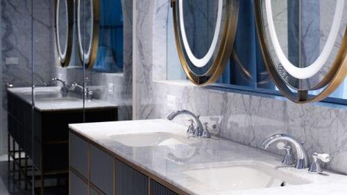 Luxury Bathroom House Bathroom Pantera Bianca Perla Brown