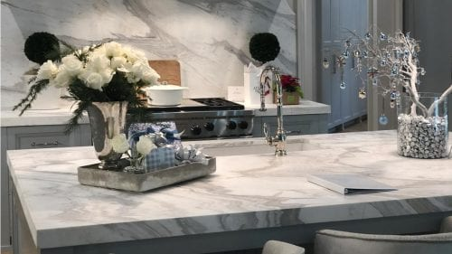 Holidays Christmas Show House Table House Kitchen Calacatta Lucina Bluette